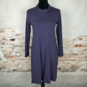 J.Jill XS Petite Purple Cowl Neck Dress POCKETS